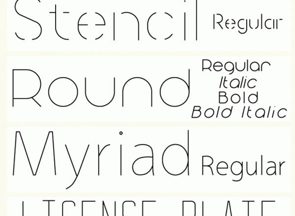 oneline-font